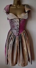 VIVIENNE WESTWOOD MONDAY 42 IMMACULATE TAFFETA FIT N FLARE WEDDING RACES DRESS