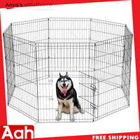 """36"""" Tall Wire Fence Pet Dog Cat Folding Exercise Yard 8 Panel Metal Play Pen"""