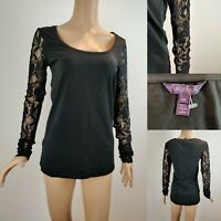 Women's LONG TALL SALLY Lace Top Jumper Size XS UK8 LTS Cotton Immaculate