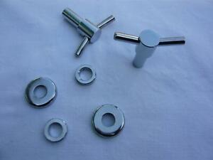 T-Bars 6tlg Ventideckelschrauben + Untersetzer Chrom Rover Cooper Mini