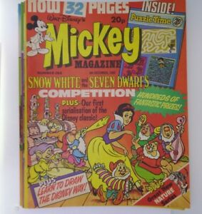 6x 1980s Mickey Mouse vintage magazine No.254 255 256 262 263 264