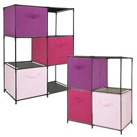 4 6 Storage Shelf Closet Compartments With Cubed Boxes Home Furniture Rack Unit
