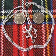 new sterling silver scottish rampant lion pendant & chain