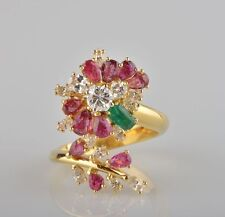 Ruby Yellow Gold Vintage Fine Jewellery (1960s)