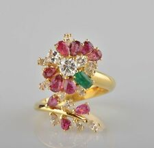 18 Carat Ruby Yellow Gold Vintage Fine Jewellery (1960s)
