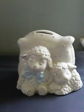 Lenox, Lazy Lamb Coin Bank with 24 Carat Gold accents, great condition