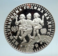 1979 BULGARIA Year of the Child Antique Genuine Silver 10 Leva Coin i74991