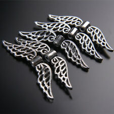 50PCS 32mm Tibetan Retro Silver Angel Wing Spacer Beads DIY Jewelry Pendant