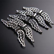 50PCS 32mm Tibetan Retro Silver Angel Wing Spacer Beads DIY Jewelry Pendant