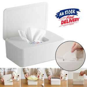 Storage Dispenser Wipes Holder Household Supplies with Lid Case  Box Tissue Box
