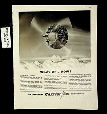 1943 Carrier Refrigerator Air Conditioning Plane Engine Vintage Print Ad 19942