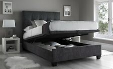 Kaydian Walkworth 4FT6 Double Charcoal Linen Fabric Ottoman Storage Bed