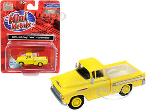 1957 CHEVROLET CAMEO PICKUP TRUCK YELLOW 1/87 (HO) CAR CLASSIC METAL WORKS 30573