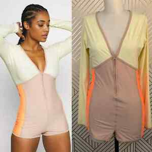 NWT Free People Take a Plunge Surf Suit Rose Jersey Athletic Size Large