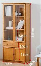 Premium Bamboo European Style Bookcase Bookshelf Cabinet Organizer Storage