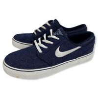 Nike SB Stefan Janoski Denim Blue Classic Skate Shoes Size 5.5 Youth 654861-412