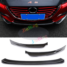 For Mazda 3 Axela 2017 Carbon Fiber Style Front Lower Bumper Protector Cover