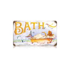 """Mermaid Bath Cute Adorable Steel Metal Sign 14"""" x 8"""""""