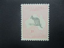 Kanagroo Stamps: 10/- SMW Watermark Mint  - Great Item (e249)