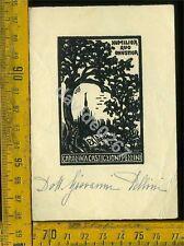 Ex Libris Antico Originale a 896 Carolina Castiglioni Pezzini Callet