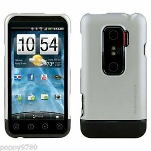 Neuf Body Glove Icon Glissable Slim Étui Coque Rigide Pour HTC Evo 3D Argent /