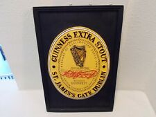 "Guinness Extra Stout Beer Sign Collectible 8"" x 11 1/2"""