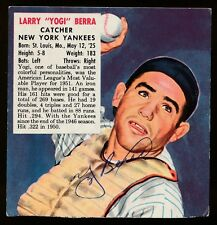 1952 Red Man Tobacco -YOGI BERRA (New York Yankees) *AUTOGRAPHED* (d.2015)