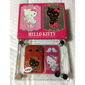 ZIPPO Lighter HELLO KITTY Angel & Devil Pair Set Limited to 214 pieces Japan F/S