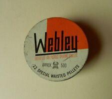Vintage Webley .22 Special Waisted Pellets Tin