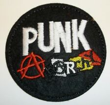 "Punk Rock Anarchy Music Patch~Embroidered Applique~2 15/16""~Iron Sew~US Seller"