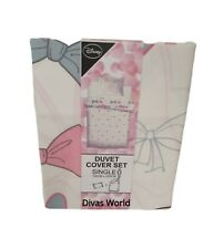 Disney Minnie Mouse Single Duvet Cover Set Reversible Bow Polka Dots Bed Primark