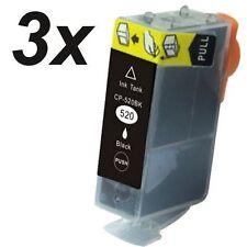 Lotto di 3 Cartucce Compatibili Nero 520XL CANON IP3600/IP4600/MP540/620/630/980