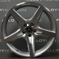"GENUINE MERCEDES-BENZ SL R231 AMG 19"" INCH 5 SPOKE SILVER & CUT ALLOY WHEELS X4"