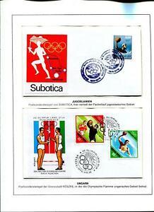 Motivsammlung Olympiade 1972 Fackellauf Belegesammlung, 51 Stk., Vordruckalbum