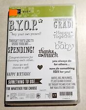 Stampin' Up! B.Y.O.P. Photopolymer Stamp Birthday Baby Graduation Gift Cards