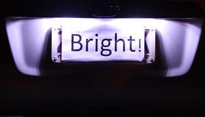 White LED Number Plate Lights for Mitsubishi Lancer Magna Triton Outlander Colt