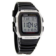 Casio 50 Meter Chronograph Watch, Black Resin Strap, Alarm, Date, W96H-1AV