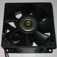 Delta 92 mm High CFM Brushless Tube Axial Cooling 12 V DC Fan - 85 CFM - 6 Watt