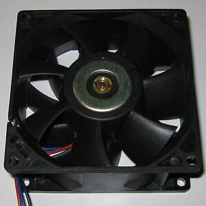 Delta 92 mm High CFM Brushless Tube Axial Cooling 12 V DC Fan - 85 CFM - 6 Watt