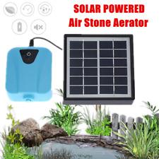 Solar Powered Oxygenator Pond Water Oxygen Pump Aerator Garden Outdoor DC 5V NEW