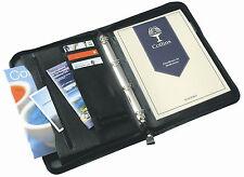 Black A4 Metal Ringbinder Business Portfolio Presentation Paperwork Folder Folio