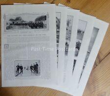 WW1 BATTLE & BOMBARDMENT OF THE YSER 1914 The Great War 13x Original Prints