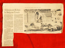 NYT May 9, 1982 article about Ferrari driver Gilles Villeneuve death