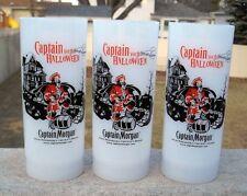 3 NEW CAPTAIN MORGAN RUM PLASTIC GLASSES CAPTAIN YOUR HALLOWEEN 12 OZ