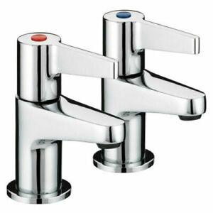 Bristan Design Utility Lever Bathroom Basin Taps Chrome DUL 1/2 C