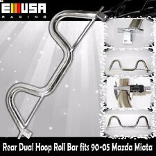 Rear Dual Hoop Roll Bar fits1990-2005 Mazda Miata ChromeSport Chassis Stabilized