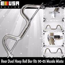 Rear Dual Hoop Roll Bar fits1990-2005 Mazda Miata ChromeSport Chassis Stabilized