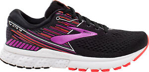 Brooks Adrenaline GTS 19 (2E) WIDE FIT Womens Running Shoes - Black