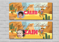 Birthday Party Banner Decoration Wild West Cowboy Theme  ANY AGE