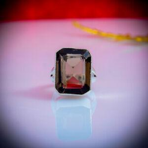 Glorious Smoky Topaz Gemstone 925 Sterling Silver Handmade Ring All Size